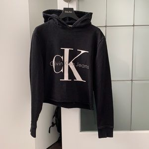 Calvin Klein Cropped Hoodie xs euc